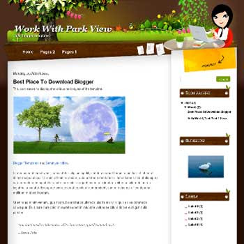 Work With Park View Blogger Template. template for personal blog