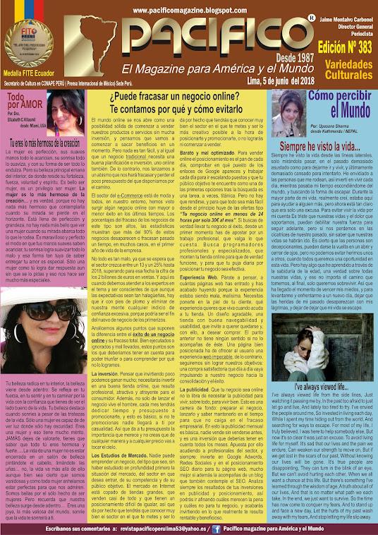 Revista Pacifico Nº 383 Variedades Culturales