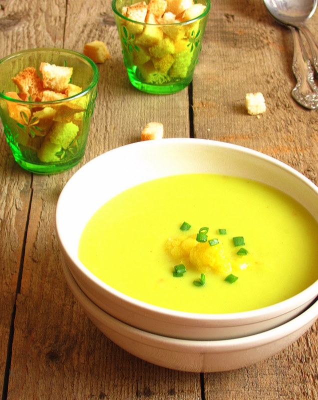 Простой овощной суп-пюре.