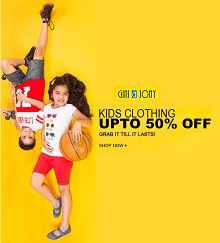Buy Gini & Jony kids Clothing Flat 60% off & 15% Cashback from Rs.100 Via  Jabong :Buytoearn
