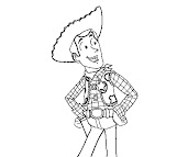 #7 Sheriff Woody Coloring Page