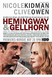 Poster Of Hemingway & Gellhorn (2012) In Hindi English Dual Audio 300MB Compressed Small Size Pc Movie Free Download Only At worldfree4u.com