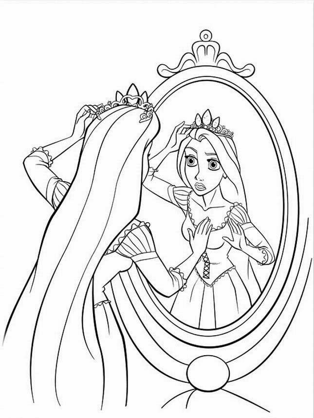Rapunzel Tangled Coloring Pages Printable