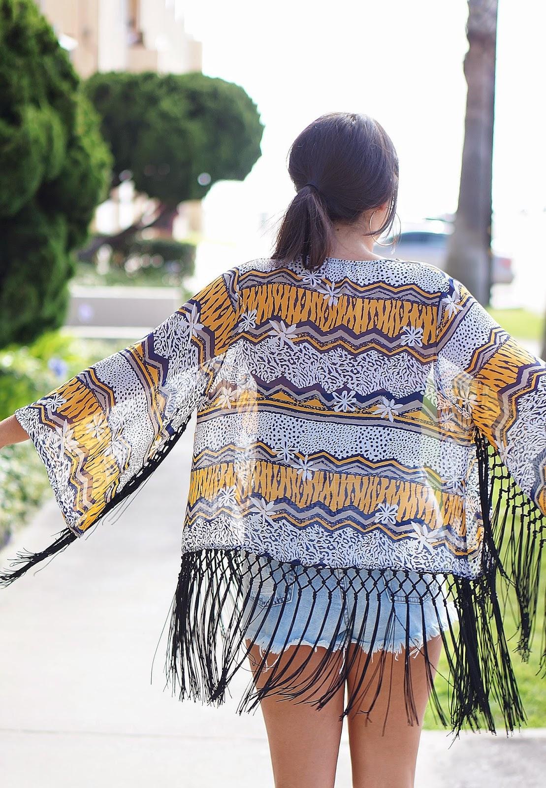 Forever 21 High waisted shorts, Kimono