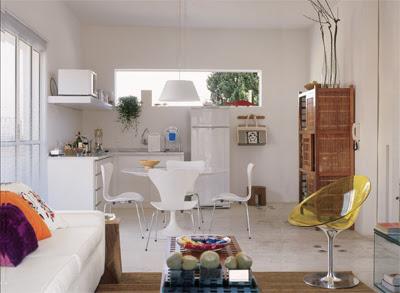Casinha Bonitinha: Cozinhas e salas integradas (ou para tia Ana)