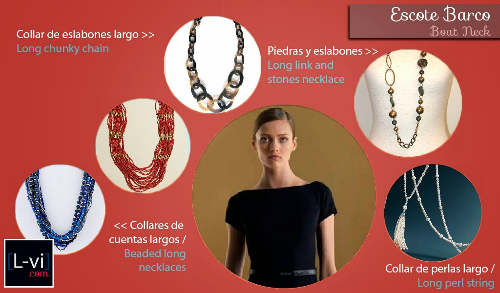 [How to: Necklines & Necklaces] Cuellos y Collares - Boat neck  L-vi.com