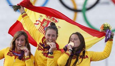 medalla de Oro en Vela Tamara Echegoyen Sofia Toro y Angela Pumariega España Juegos Olímpicos de Londres 2012