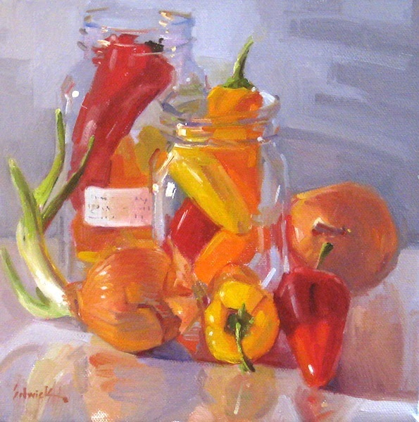 """Kitchen Decor Vegetables: Sedwick Studio: """"Peppers And Onions"""" Vegetable Food"""