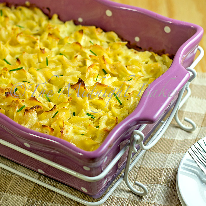 The Midnight Baker: Three Cheese Noodle Pudding: Meatless Mondays
