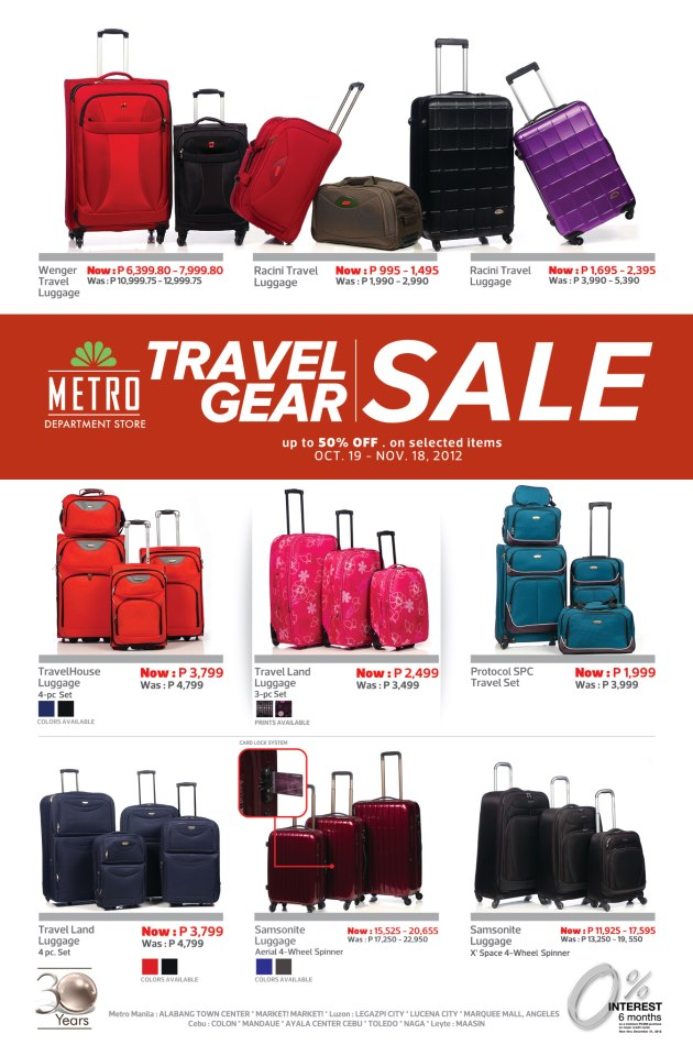 Metro Stores Philippines Travel Bags Sale 2012 Pamurahan Your