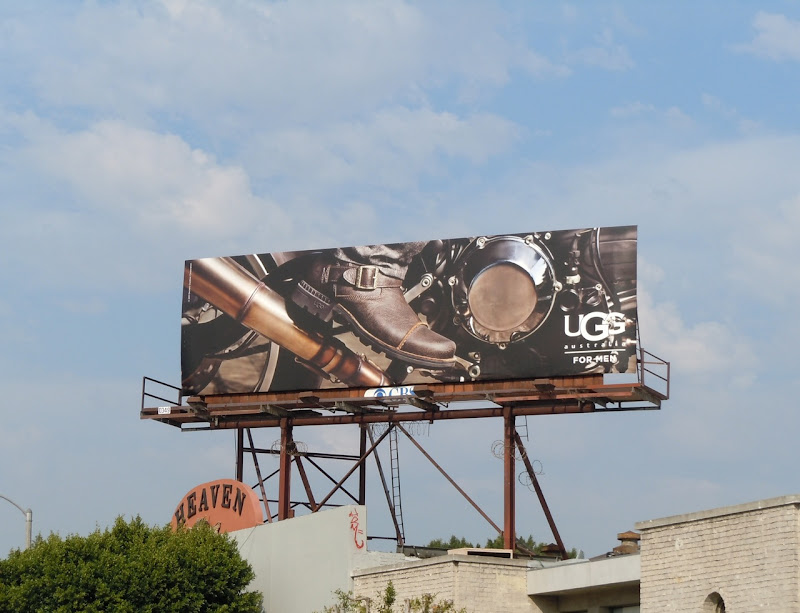 UGG Men shoes motorcycle billboard