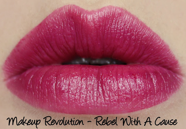 Makeup Revolution Amazing Lipstick - Rebel With A Cause Swatches & Review