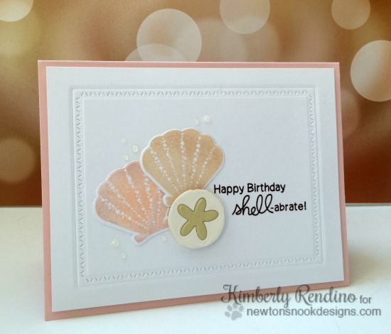 Seashell birthday card | Newton's Nook | Kimpletekreativity.blogspot.com