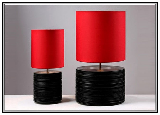 Nice Black And Red Table Lamps
