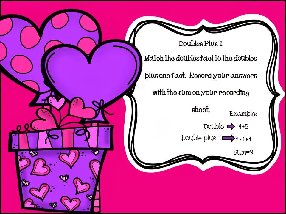 http://www.teacherspayteachers.com/Product/Valentines-Double-Plus-One-Activity-1045392