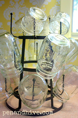 mason jars drying