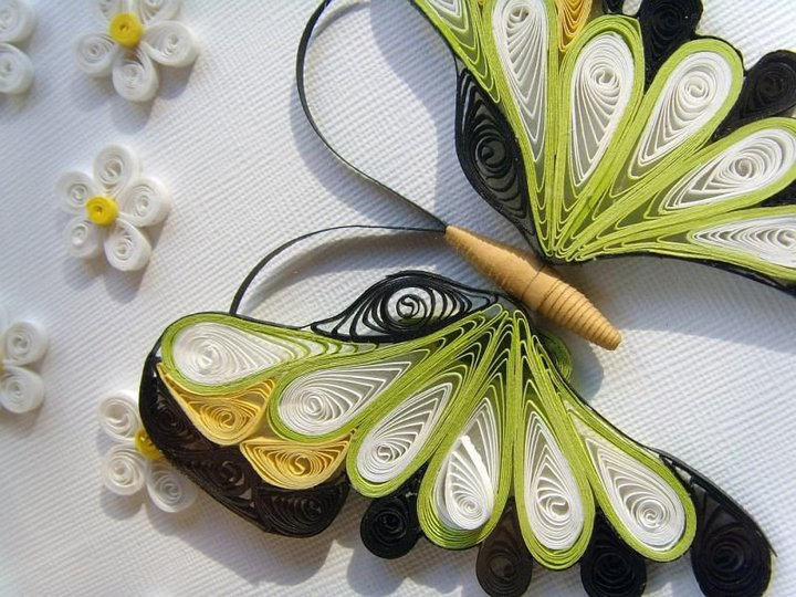 Beautiful butterfly paper quilling designs creative art for Paper quilling designs