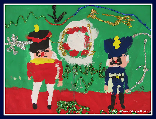 photo of: Third Grade Painting of The Nutcracker Suite Ballet via RainbowsWithinReach