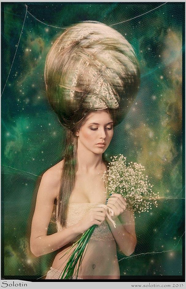 девушка, цветы, принцесса, вселенная, прическа, студия, фото, фотосессия, Тамбов