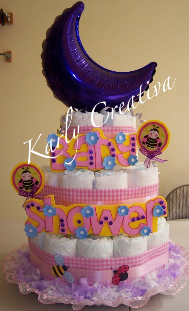 Un nuevo modelo de pastel de pañales para niña, con Karly Doll bebe ...