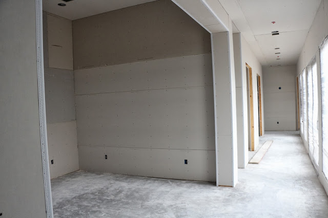 drywall installation with corners