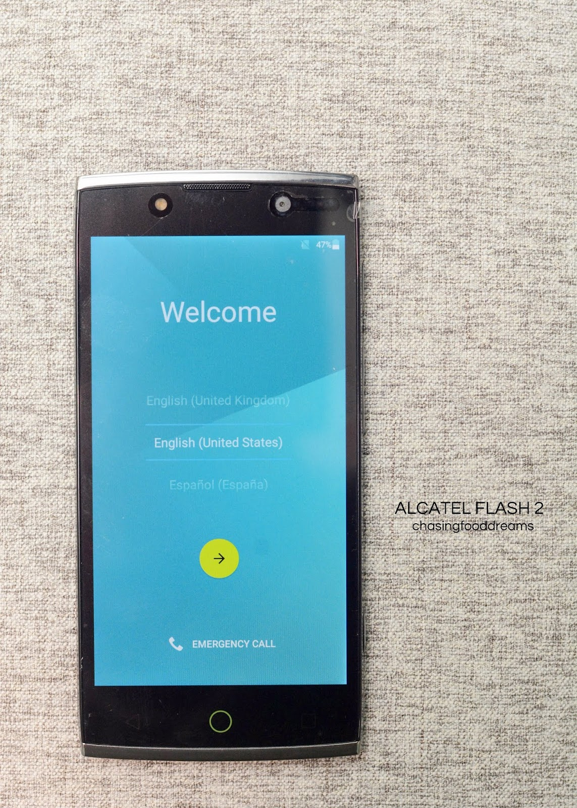 Chasing Food Dreams Alcatel Flash 2 Review Samsung Note 101 2014 Edition Garansi Indonesia Black The Moment I Set My Eyes On Sleekness Came To Mind Ergonomically Design Smartphone By One Touch Is Sleek Slim And Swanky