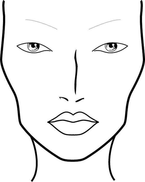 blank female face template - photo #8