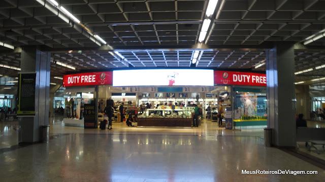 Duty Free no Terminal 1 do Aeroporto de Guarulhos