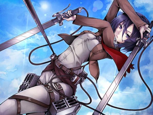 mikasa ackerman anime girl attack on titan shingeki no kyojin hd wallpaper 1600x1200 7n