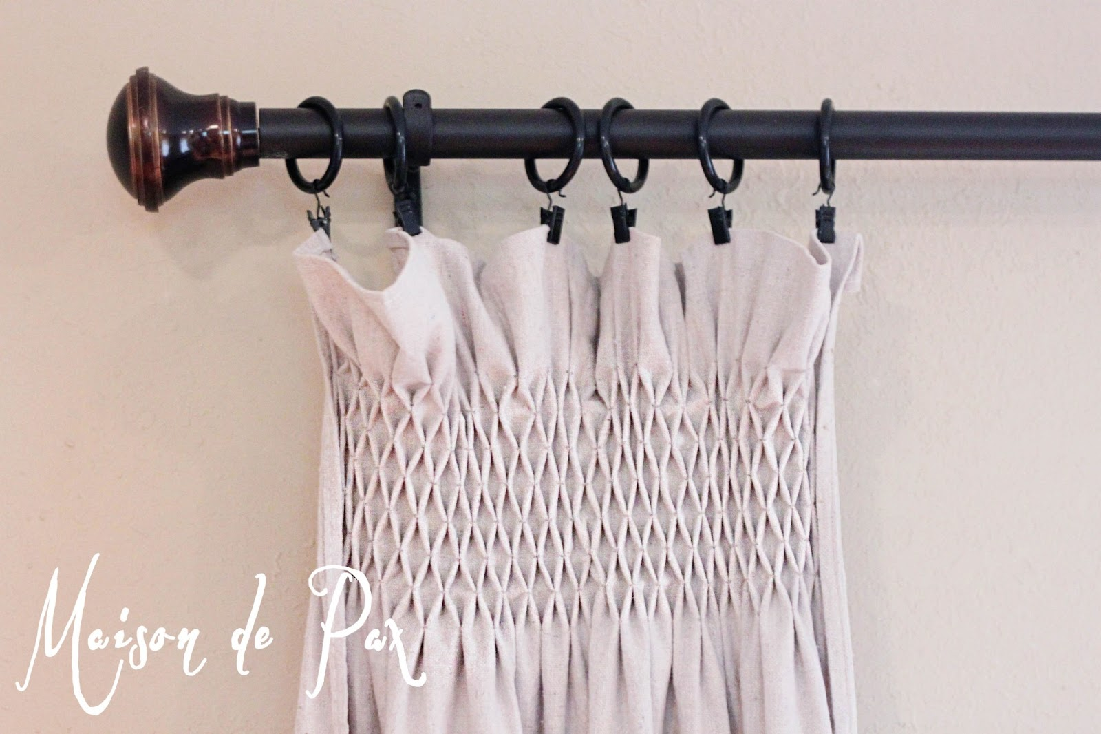 DIY Smocked Curtains