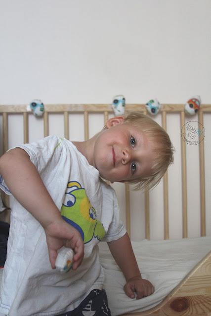 wystrój łóżeczka dla chłopca