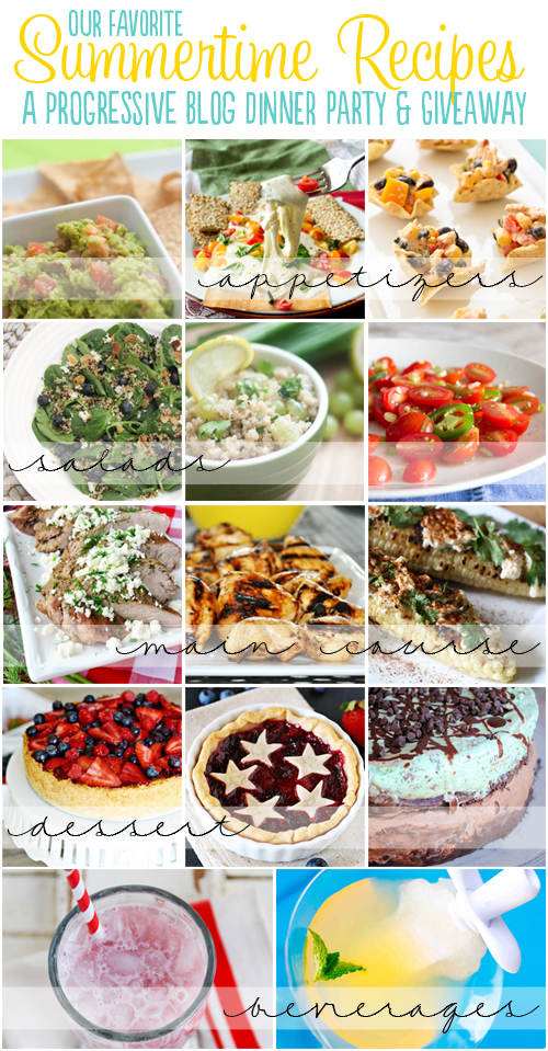 13 Summertime recipes for the perfect summer dinner party! (and a pretty cool giveaway, too!)