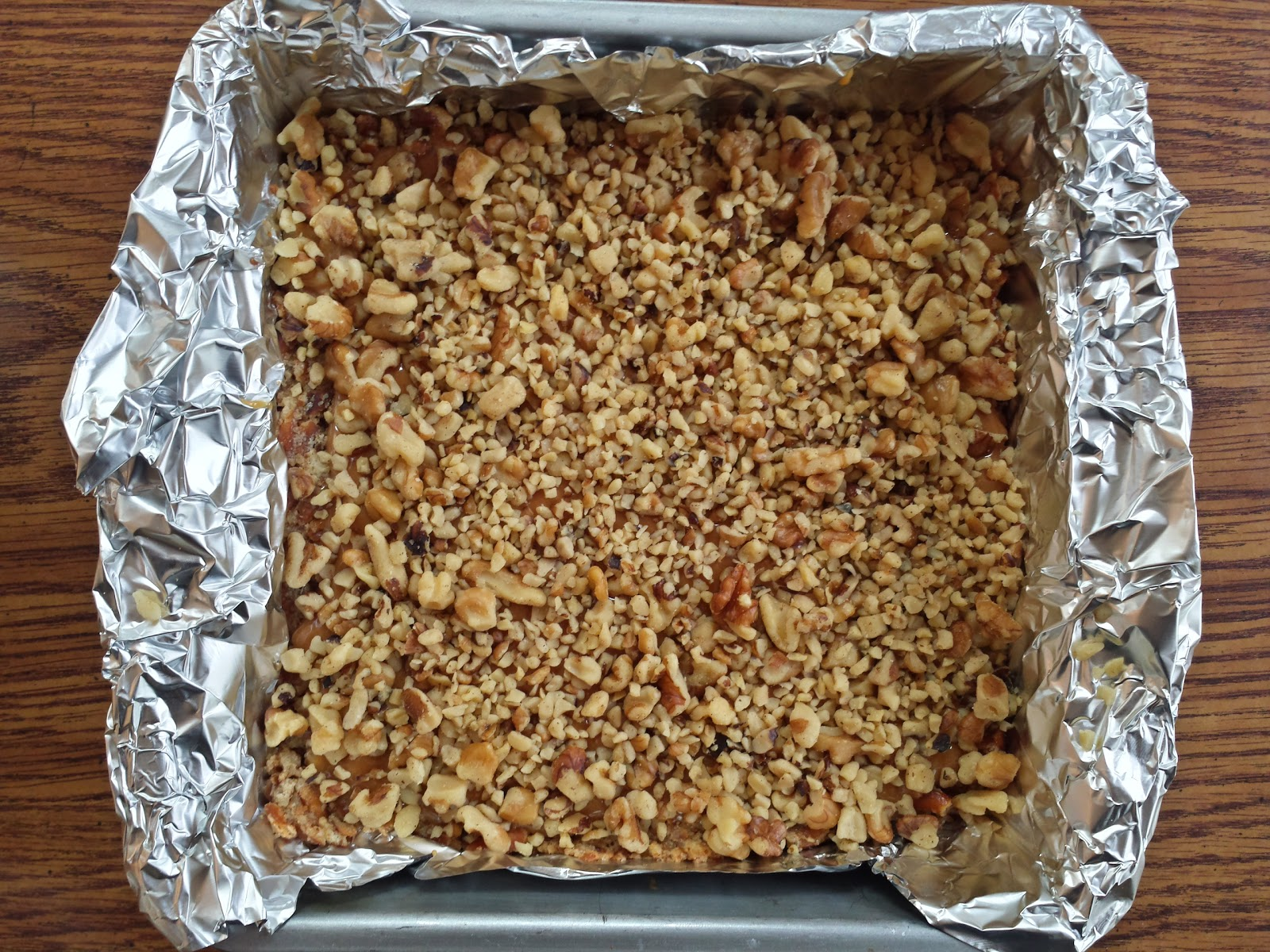 walnuts sprinkled on top