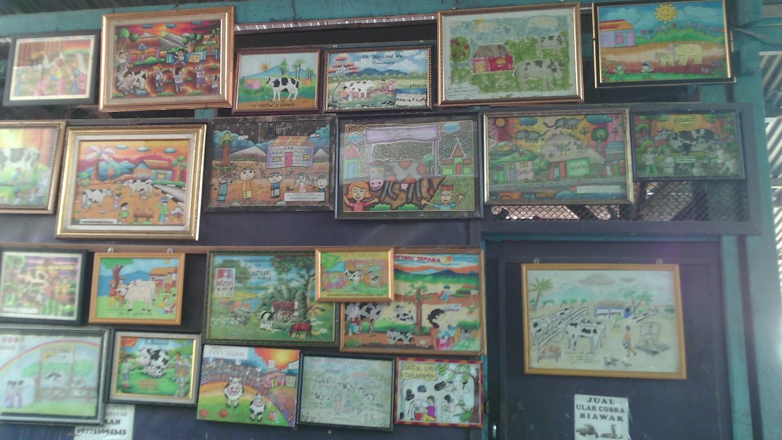 Hasil karya lomba menggambar dan mewarnai di Peternakan Sapi Muria Kudus