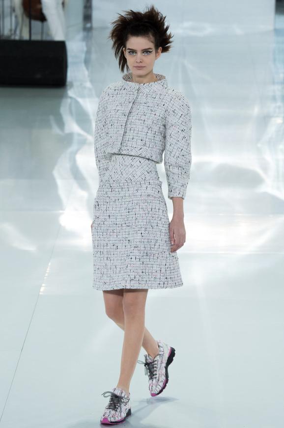 Chanel SS 2015 vestido tweed