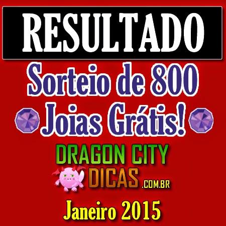 Resultado do Super Sorteio de 800 Joias - Janeiro 2015