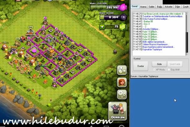 Clash Of Clans (Coc Bot v8.3) Asker isteme/Eğitme Oyunda Kalma Hilesi ...