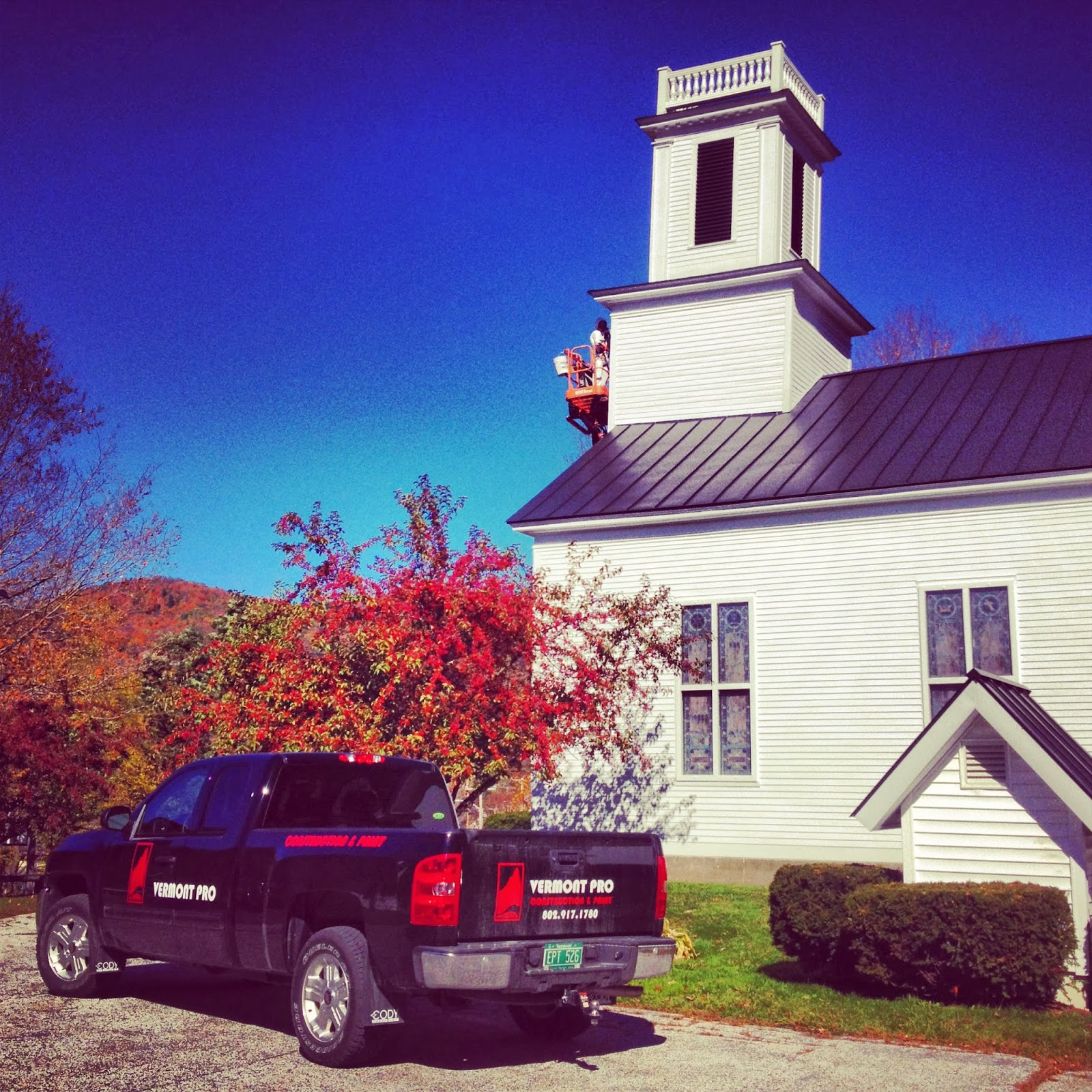 Vermont professional construction painting llc warren for Church mural restoration