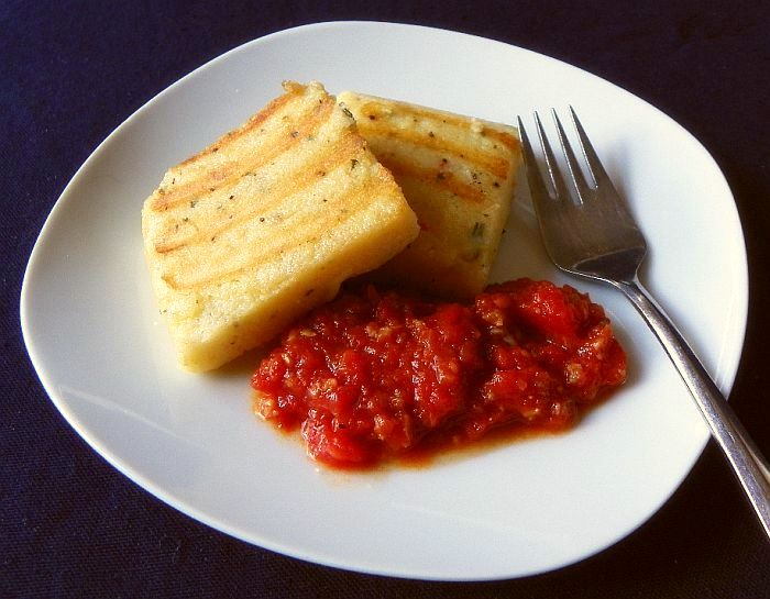 Chile, Cheese and Rosemary Polenta with Tomato Sauce (page 58)