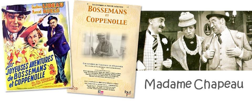 """Madame Chapeau  - Sculpture de rue de Tom Frantzen - Personnage de la pièce de théâtre """"Bossemans et Coppenolle"""" - Bruxelles-Bruxellons"""