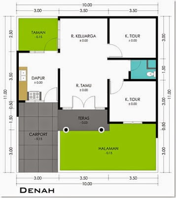 Sketsa Desain Rumah Tipe 36 Minimalis