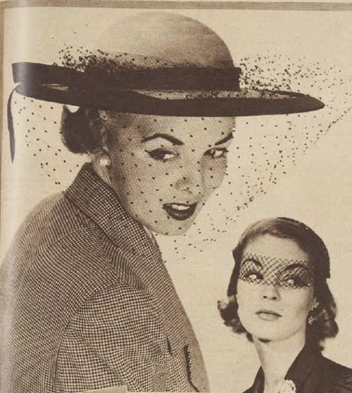 Veil fashions 1951 AWW