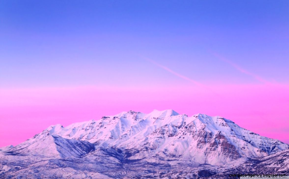 Mount Timpanogos Pink Sunset HD desktop wallpaper  High
