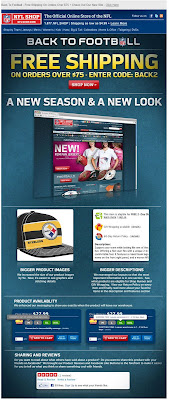 Click to view this July 25, 2011 NFLshop email full-sized