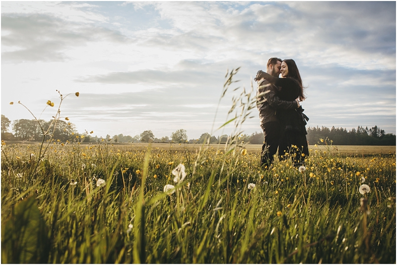A couple in a meadow