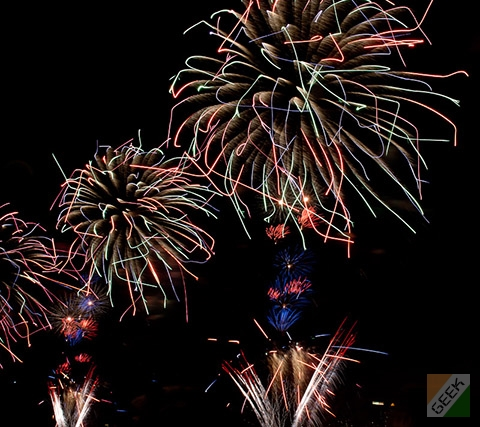 Firework photography - Long exposure, cool light effects