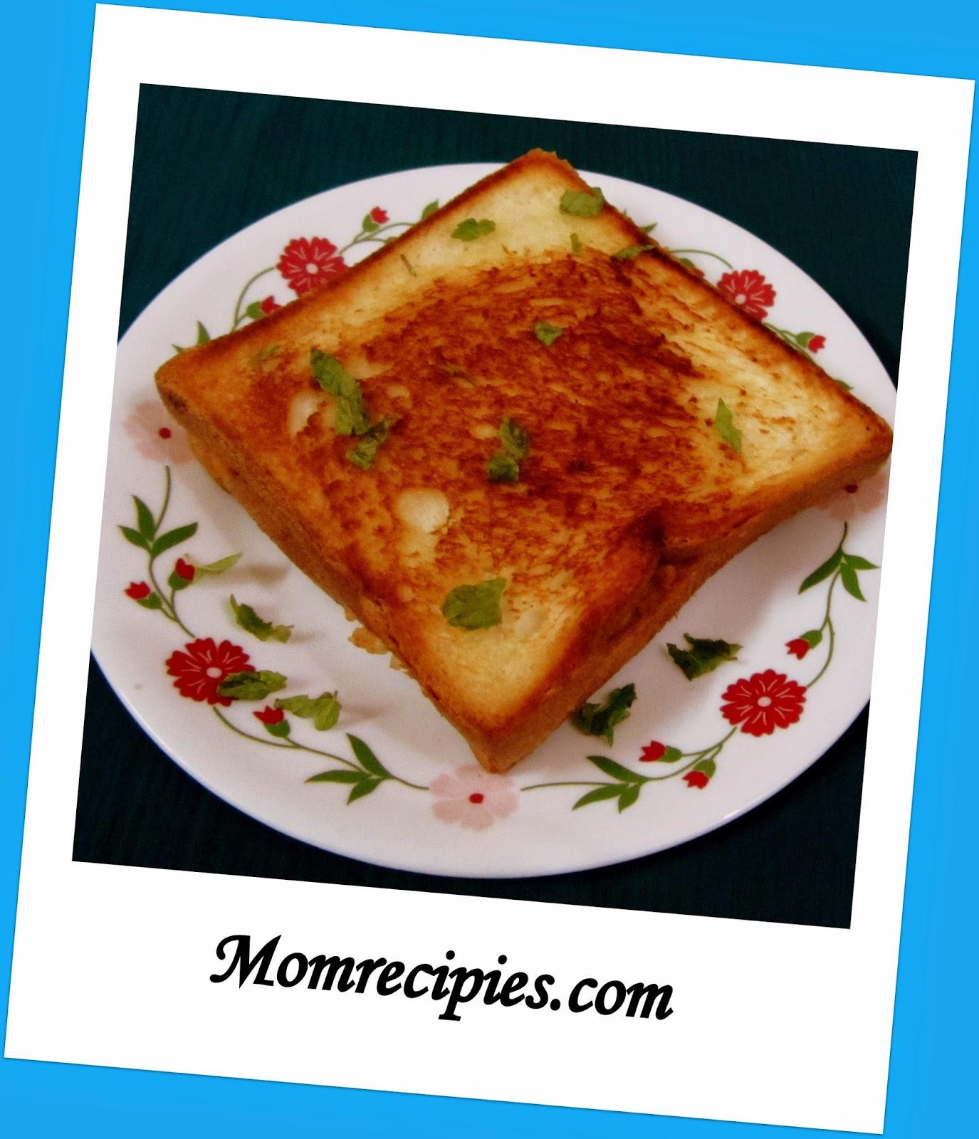 aloo cheese sandwich  / potato cheese sandwich / kids lunch box recipe