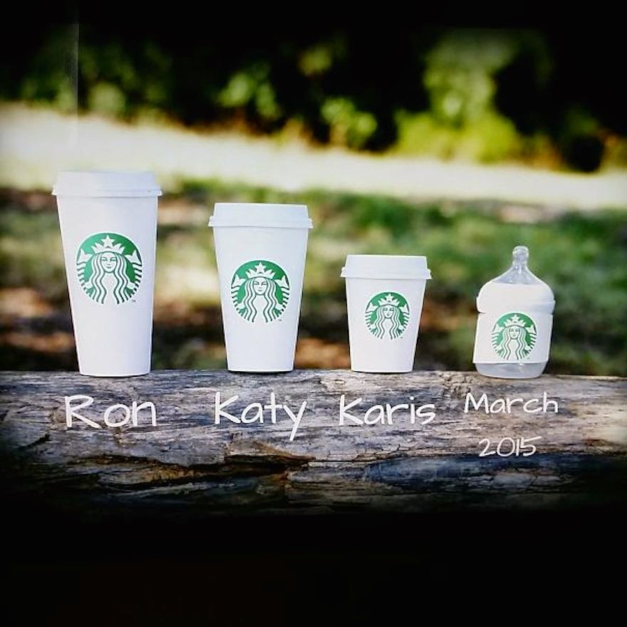 30 Of The Most Creative Baby Announcements Ever - Born Sipping Starbucks
