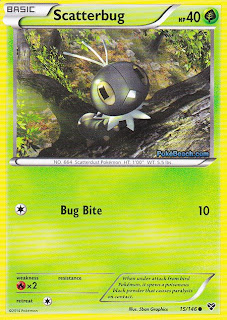 Scatterbug Pokemon X and Y Card