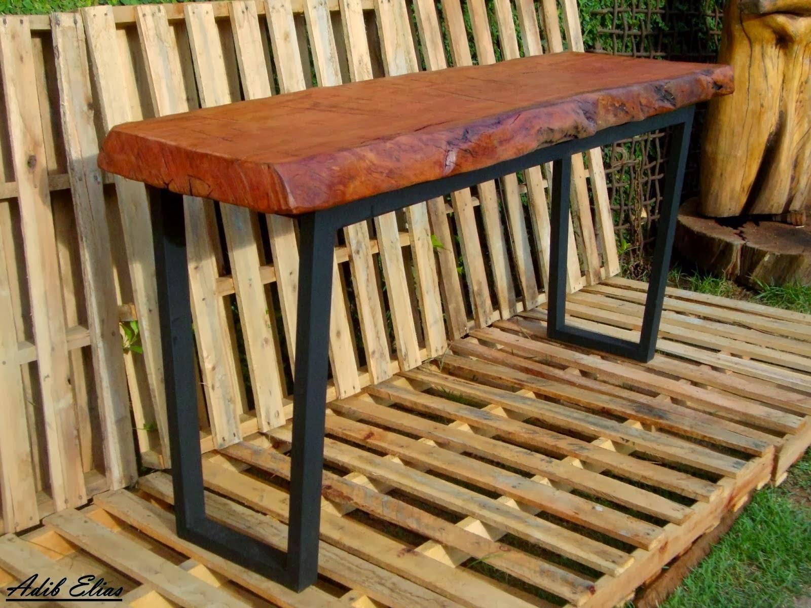 Aparador de madeira reciclada com base de pés de máquina de costura  #A87723 1600x1200